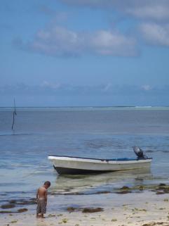 Fiji boy boat