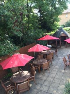 Beer Garden and hobbit house