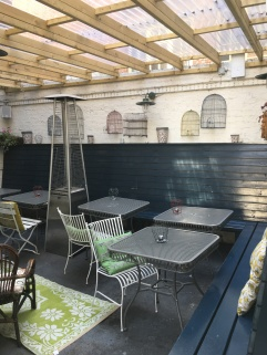 Covered Beer Garden Area